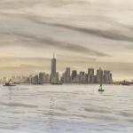 Manhattan vanaf Staten Island