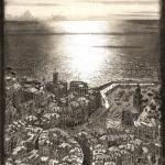 Stadje aan de kust van Ligurië