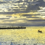 Zonsondergang in Trieste