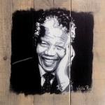 portret Nelson Mandela .