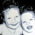 Portret '2 kiddies'