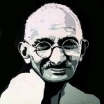Portret Ghandi