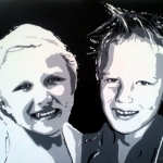 Portret Linde en Daan.