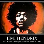 Zeefdruk Jimi Hendrix