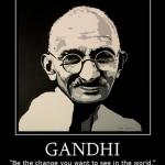 Zeefdruk Ghandi.