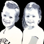 Portret broer en zus