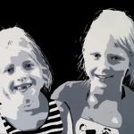 Portret 2 zusjes