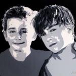Portret van 2 zonen