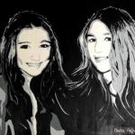 Portret van 2 dochters