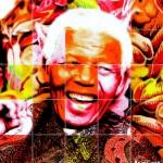 zeefdruk Nelson Mandela