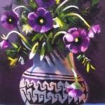 Bloemen in indiaanse pot