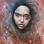 Beschilderde Dame 2