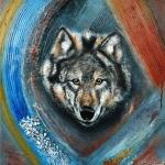 Wolf with the orange Eyes