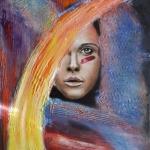 Beschilderde Dame