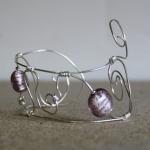 Armband zilver lila