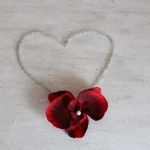 Ketting orchidee rood