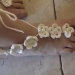 Barefoot sandalen 6 bloemetjes