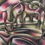 Handschap met terugwuifende Surrealisten