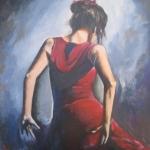 dansende vrouw