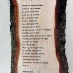 gedicht op hout