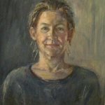Olieverfstudie (zelfportret1)