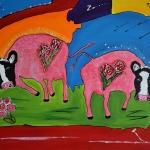 Fantasie Koeien in kleur