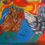 Kippen (olieverf)