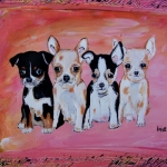 Chihuahua hondjes in lijst