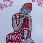 Boeddha met bloesem (2)