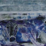 Duo in paars-blauw