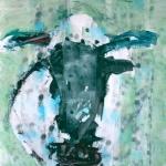 Blauw-zwarte koe