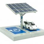 laadpaal op zonne-energie