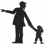 Vader met kindje