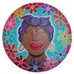 Antilliaanse dame rond