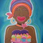 Moeder met taartjes
