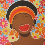 Mujer orange & flower