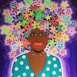 Damanan dushi paars & bloemen