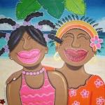 Kinderen op het strand(Muchanan riba e playa)