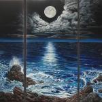 Maanlicht - 3 luik- De oceaan