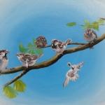 Seven little sparrows