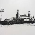 Raderstooomsleepboot Oscar Huber