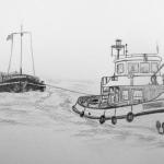 Sleepboot Hendrik met sleepschip