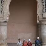 Bij de Hassan-II moskee in Casablanca
