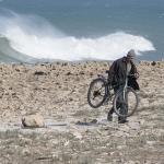 Fietser uit zee - Rabat Marokko