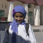 Trots meisje met hijaab - Marokko
