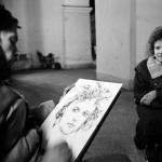 Straattekenaar in Moskou