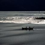 Vissers tussen Bali en Lombok Indonesië
