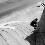 Man op trap - Arles (Fr.)