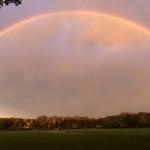 Weiland bij 'Kommer-rust' met regenboog