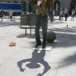 Dansend met zijn schaduw – Barcelona april 2017